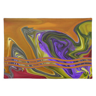 Funky Colorful Liquid Wave Placemat