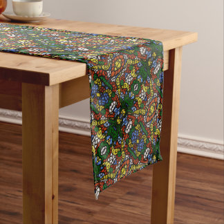 Funky Colorful Pattern Long Table Runner