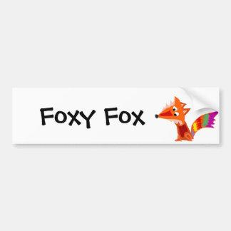 Funky Colorful Red Fox Art Design Bumper Sticker