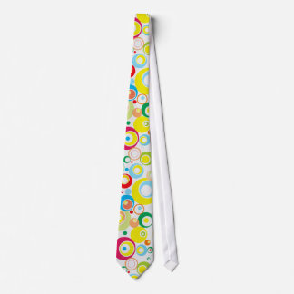 Funky Colorful Retro Circles Tie