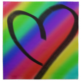 funky coloured love heart napkin