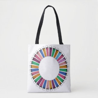 funky colourful lighter pattern tote bag