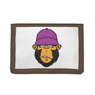 Funky Cool Monkey Tri-fold Wallets