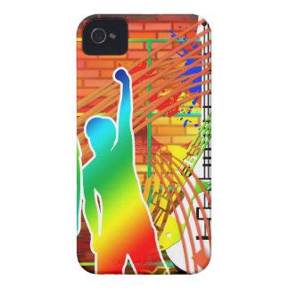 Funky Cool Music Dance Pop Art Design iPhone 4 Case