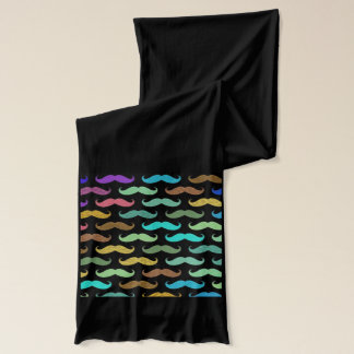 Funky Cool Trendy Multi Colored Mustaches Design Scarf