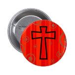 Funky Cross 6 Cm Round Badge