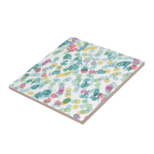 Funky Cute Colourful Happy Summer Polkadots Tile