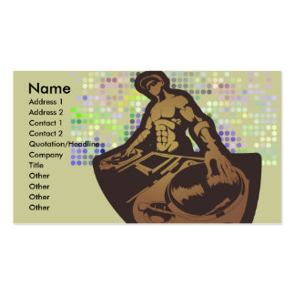 funky deejay vector design pack of standard business cards