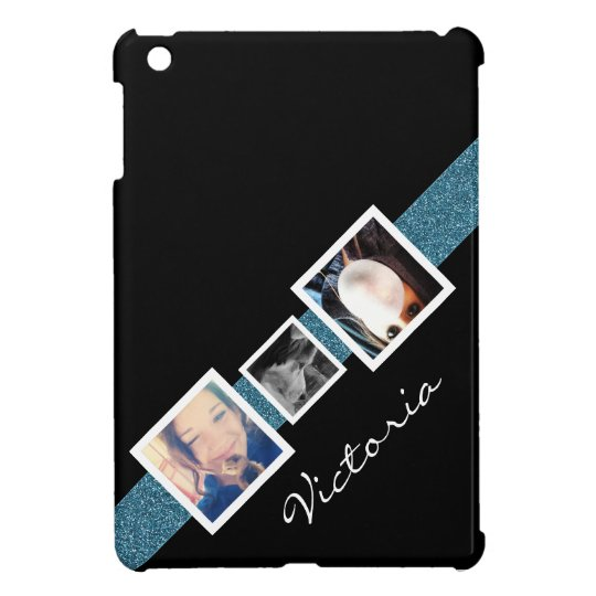 Funky Diagonal 3 Photo Personalised Case For The iPad Mini