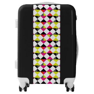 Funky Diamonds Geometric Bold Bright Trendy Luggage