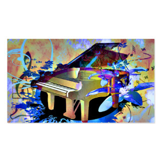 Funky Digitally Colored Piano Pack Of Standard Business Cards