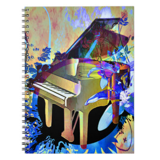 Funky Digitally Colored Piano Notebooks