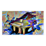 Funky Digitally Coloured Piano Pack Of Standard Business Cards