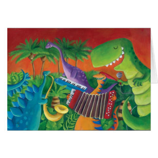 Funky Dinosaur Band Card