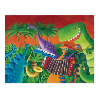 Funky Dinosaur Band Post Cards
