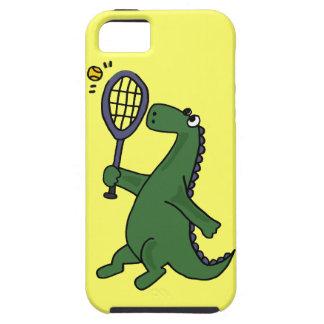 Funky Dinosaur Playing Tennis Cartoon iPhone 5 Covers