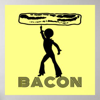 Funky Disco Bacon Poster
