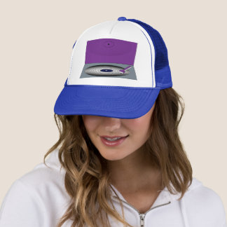 FUNKY DJ'S RETRO TURNTABLE TRUCKER HAT
