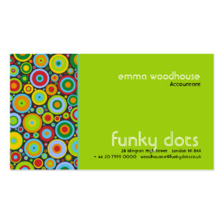 Funky Dots :: Green Business Card