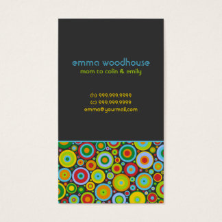 """""""Funky Dots 'n' Stripes"""" Mommy Business Card"""