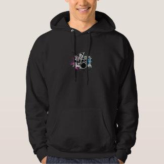 funky drummer vector design hooded pullover