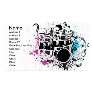 funky drummer vector design pack of standard business cards