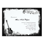 "Funky Electric Guitar Music Quinceanera Invitation 5"" X 7"" Invitation Card"