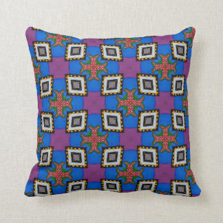 Funky ethno colorful pillow