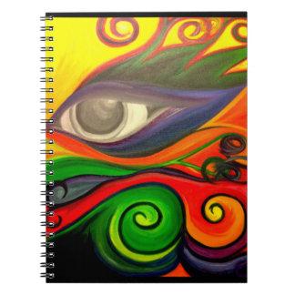 Funky eye notebook