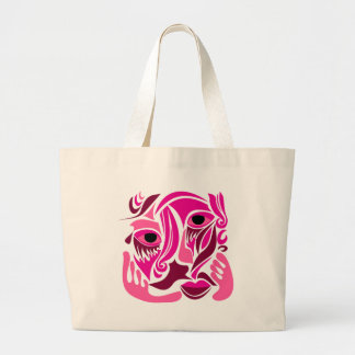 Funky Face Abstract Design Canvas Bags