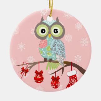 Funky Fancy Owl Christmas Ornament