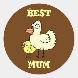 Funky Farm Chicken And Chick Best Mum! Sticker 2