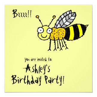 Funky Farm Honey Bee (Birthday) Party Invitation
