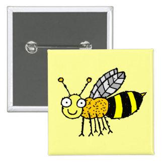 Funky Farm Honey Bee Button