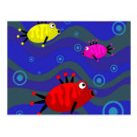 Funky Fish Post Card