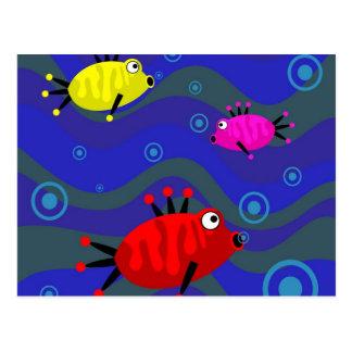 Funky Fish Postcard