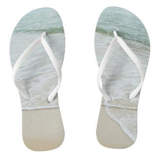 Funky flip flops beach