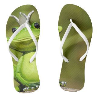 Funky flip flops frog king