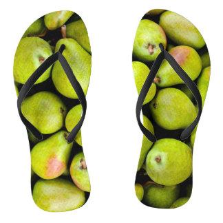 Funky flip flops pears