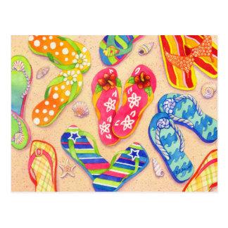 Funky Flip Flops Postcard