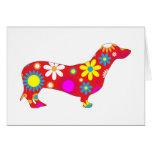 Funky floral dachshund dog