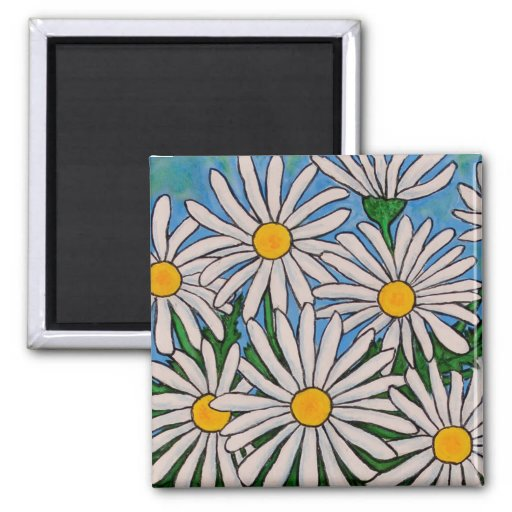 Funky Floral Daisy Magnet