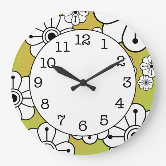 Funky Floral Decorative Wall Clock