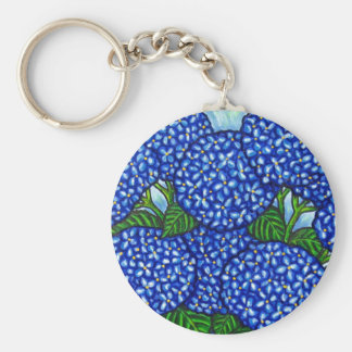 Funky Floral Hydrangea Key Chain