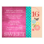 Funky Floral Invitations