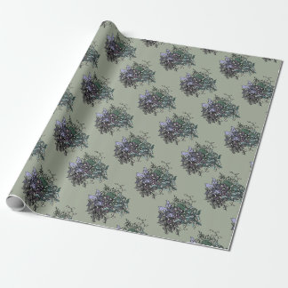 Funky Floral Line Drawing Gift Wrap Wrapping Paper