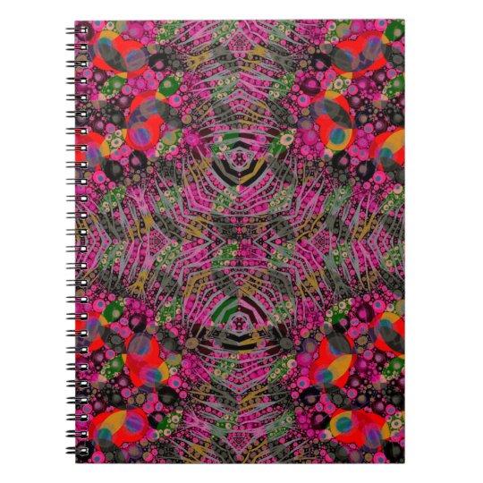 Funky Florescent Zebra Spiral Notebook