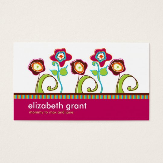 Funky Flower Business Calling cards