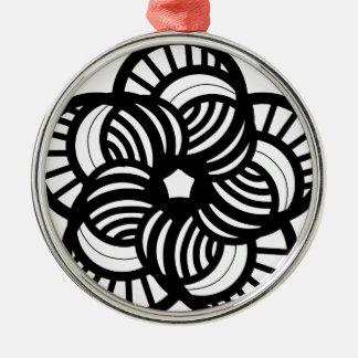 Funky flower design christmas ornament