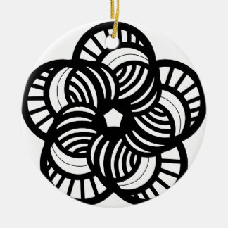Funky flower design christmas ornament